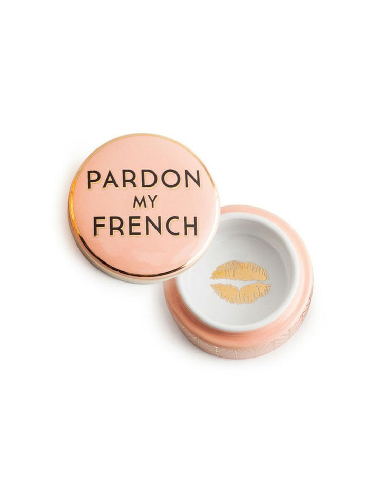 Pardon My French Trinket Box