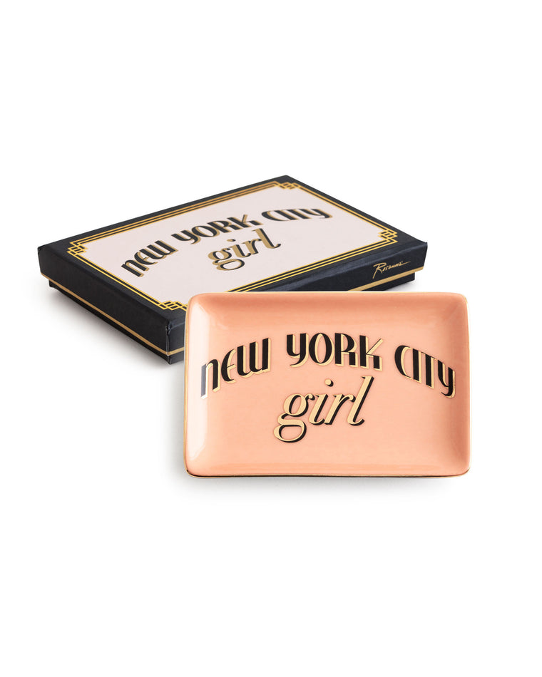 New York City Girl Porcelain Tray