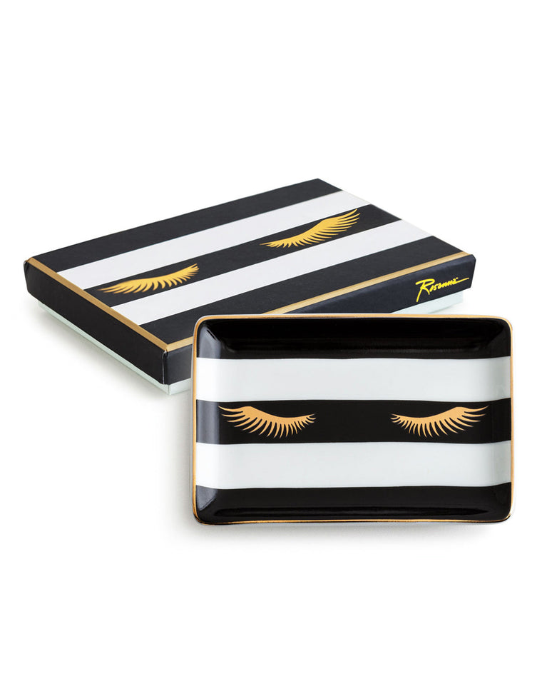 Striped Lashes Porcelain Tray