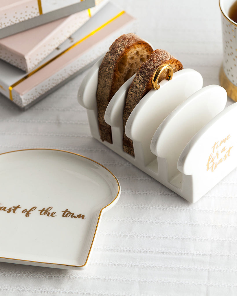 Time for a Toast Porcelain Toast Rack