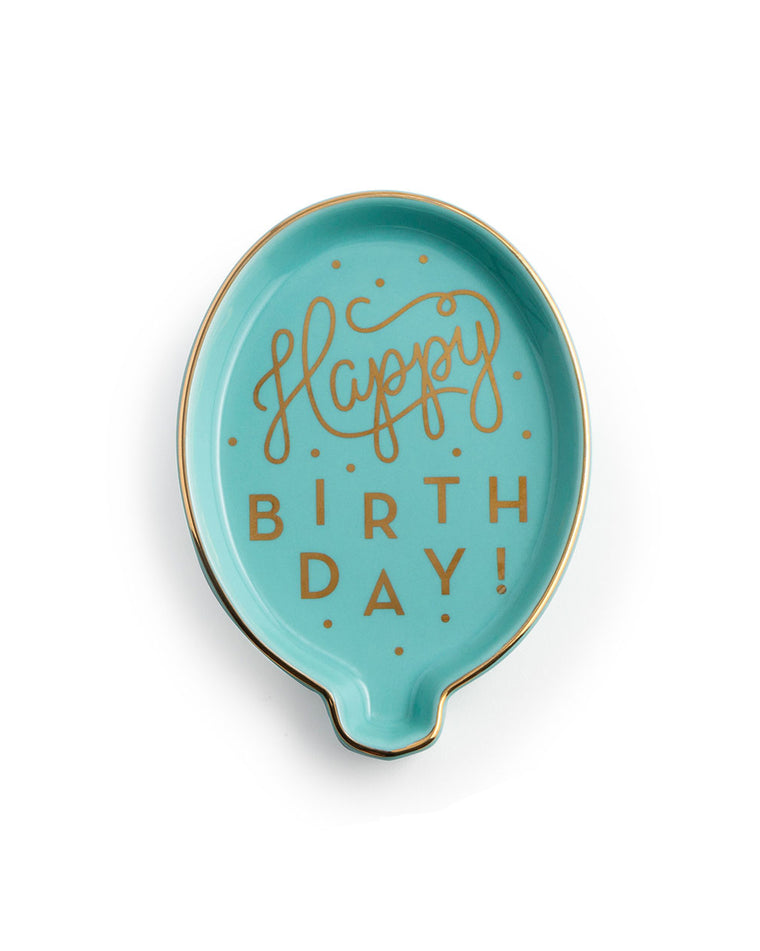 Happy Birthday Balloon Porcelain Trinket Tray