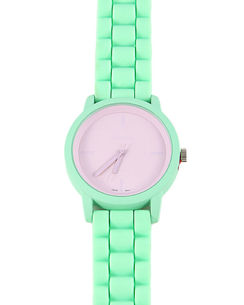 Pop of Color Rubber Watch