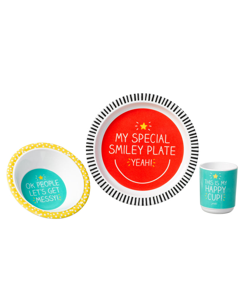 Smiley Dining Melamine Set