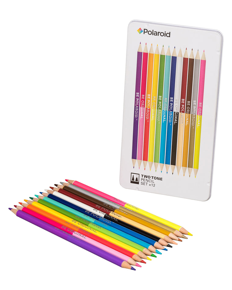 Two-Tone Spectrum Colored Pencils (Set of 12)