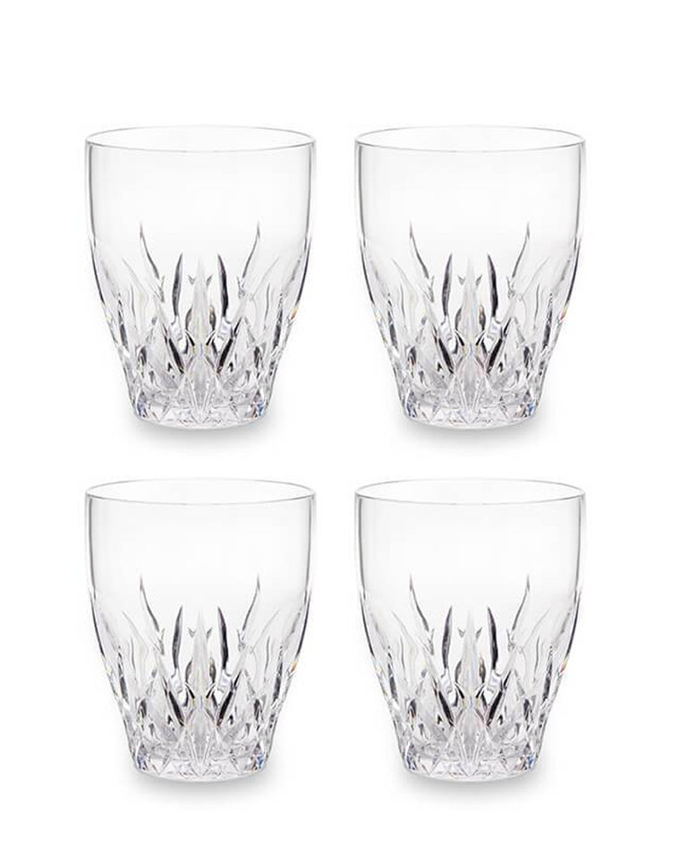 'Aurora' Crystal Cut Plastic Wine Glasses (Set of 4)