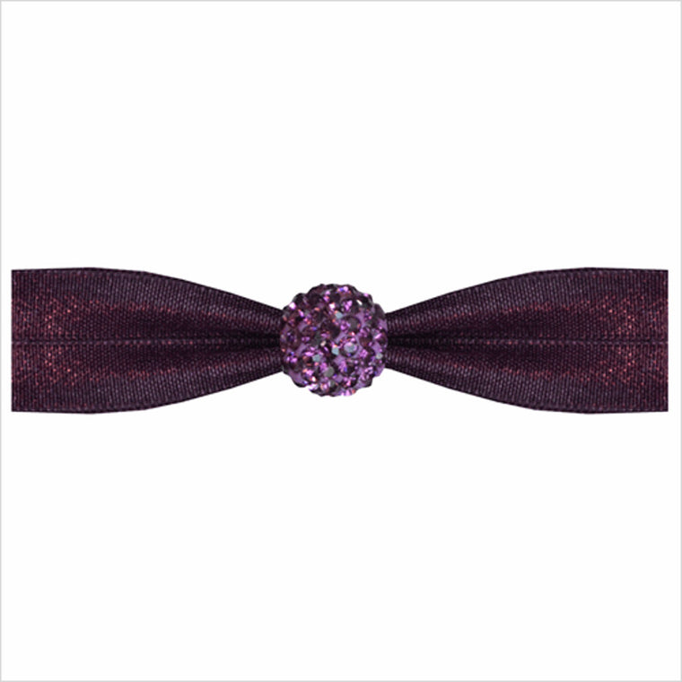 Emi-Jay Amethyst Hair Tie with Amethyst Crystal Bead