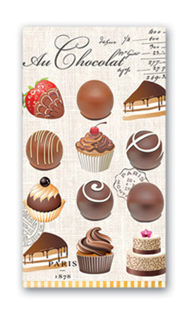 Au Chocolat Hostess Napkins