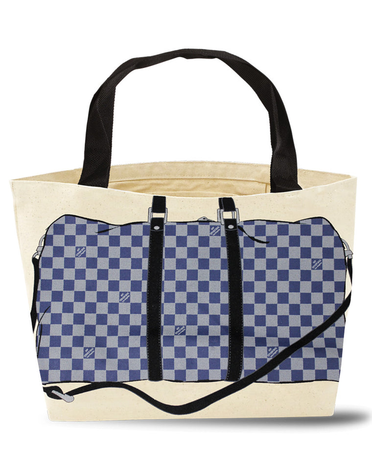 Beckham Checkered Tote Bag