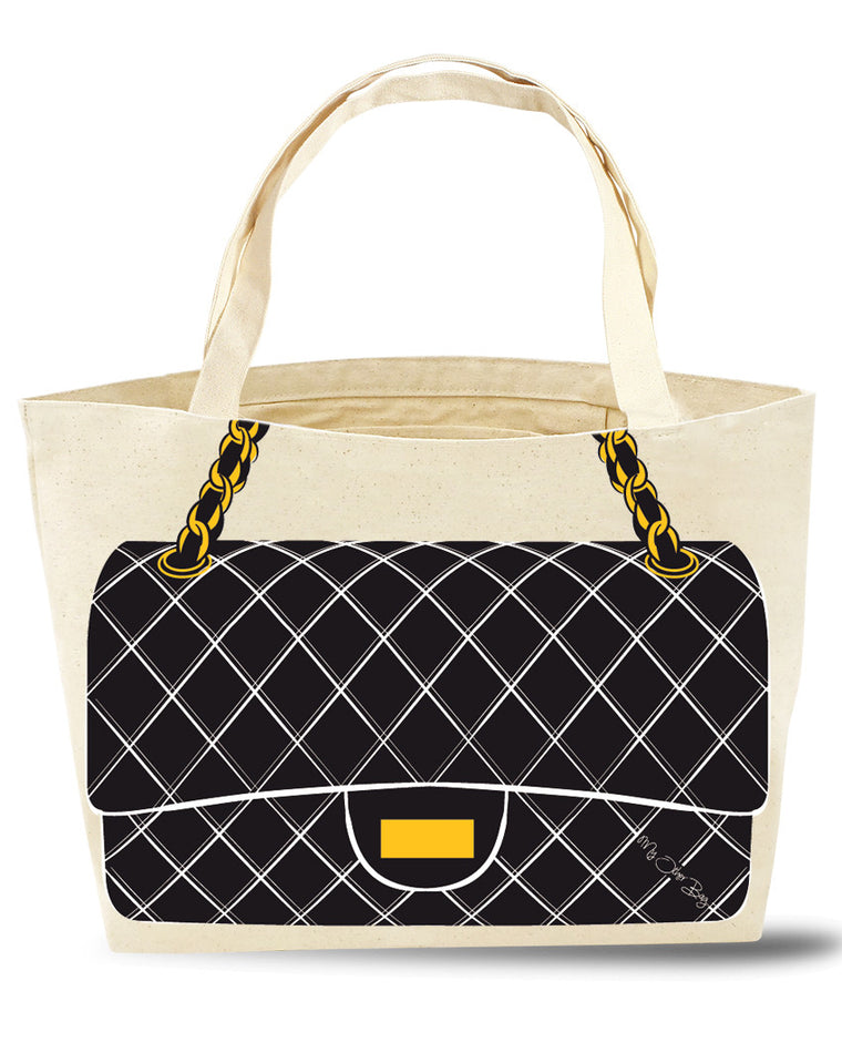 Jackie Black Tote Bag