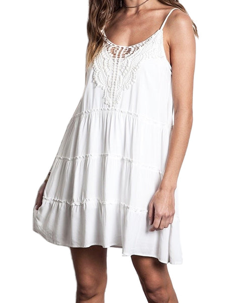 White Lace Tank Dress
