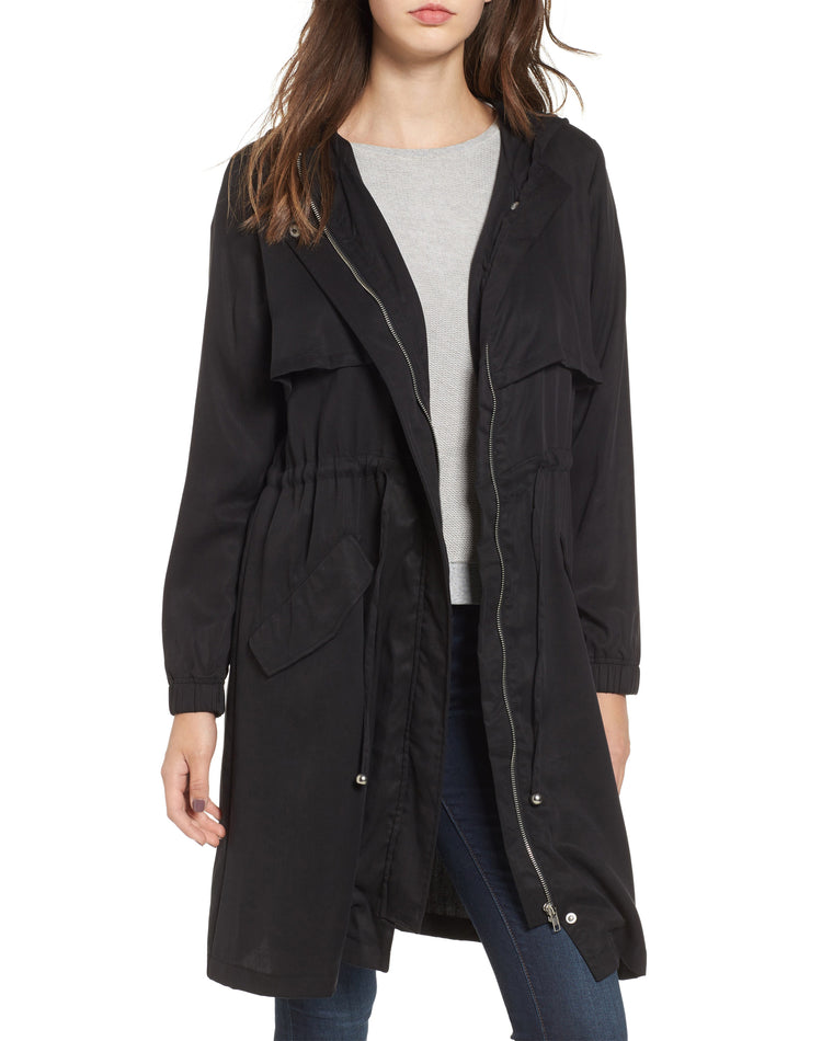 Tyler Hooded Trench Coat