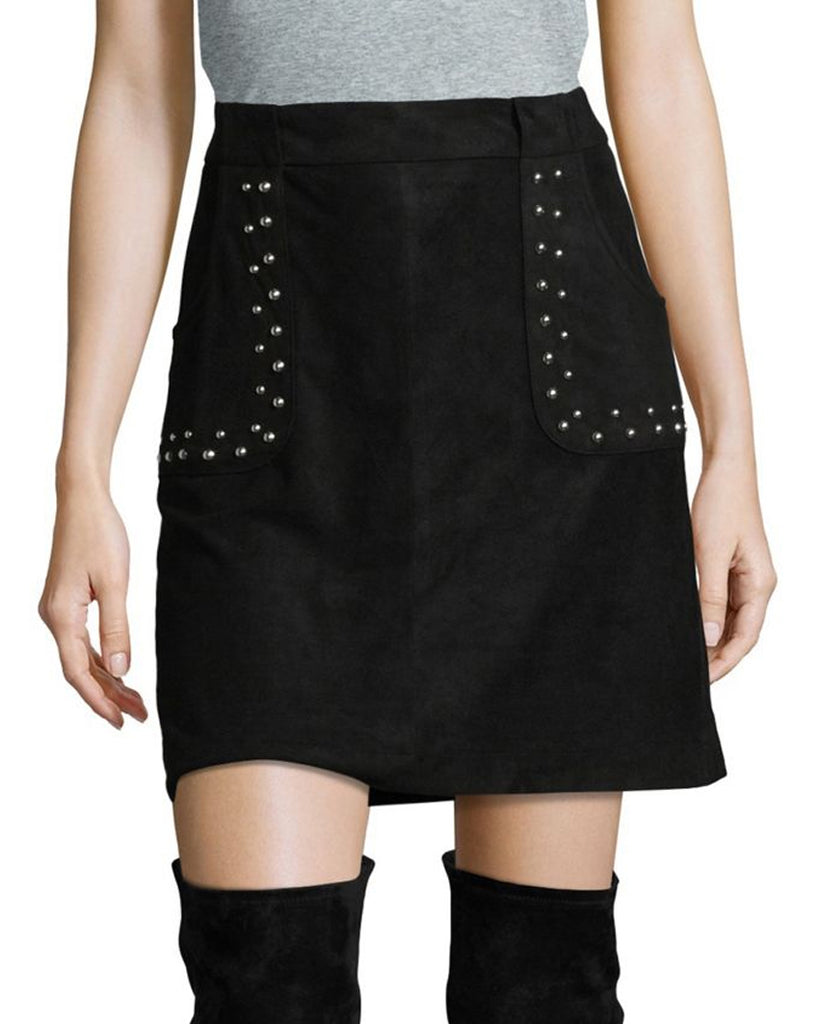 Cain Studded Suede Skirt