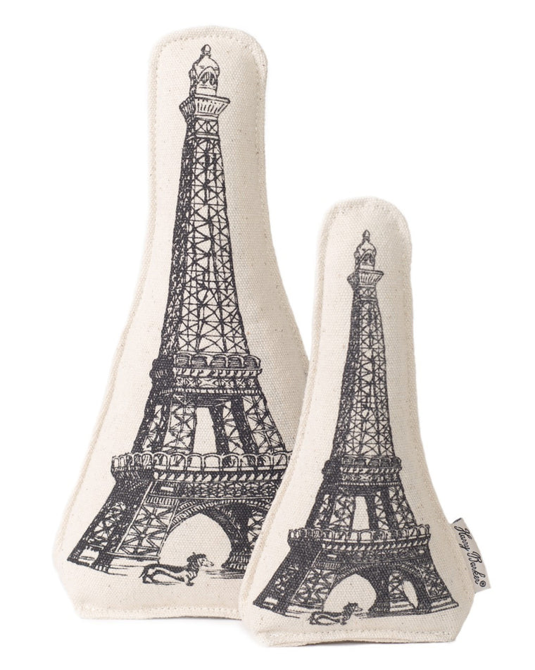 Eiffel Tower Plush Dog Toy