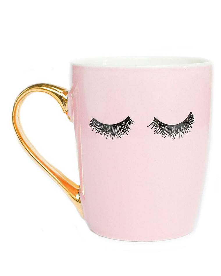 Eyelashes Gold Coffee Mug