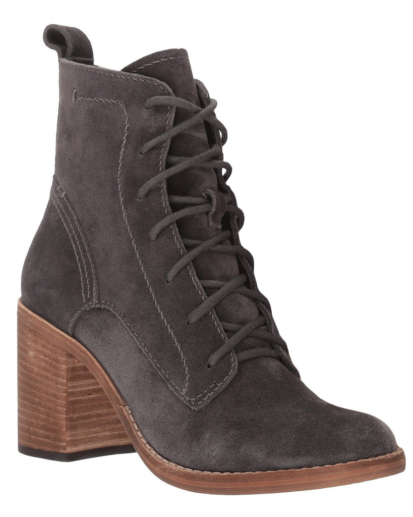 Rowly Suede Lace-Up Booties