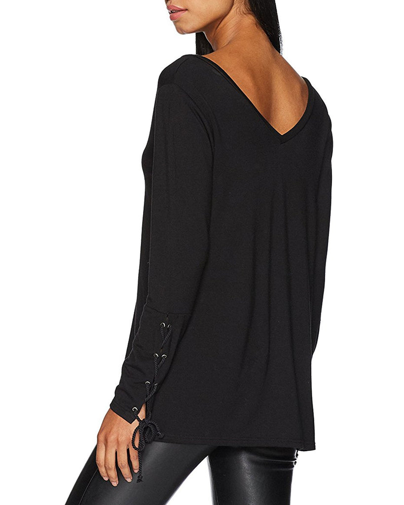 Lenita Long Sleeve Lace-Up Top
