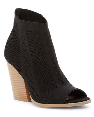 Café Society Black Knit Booties