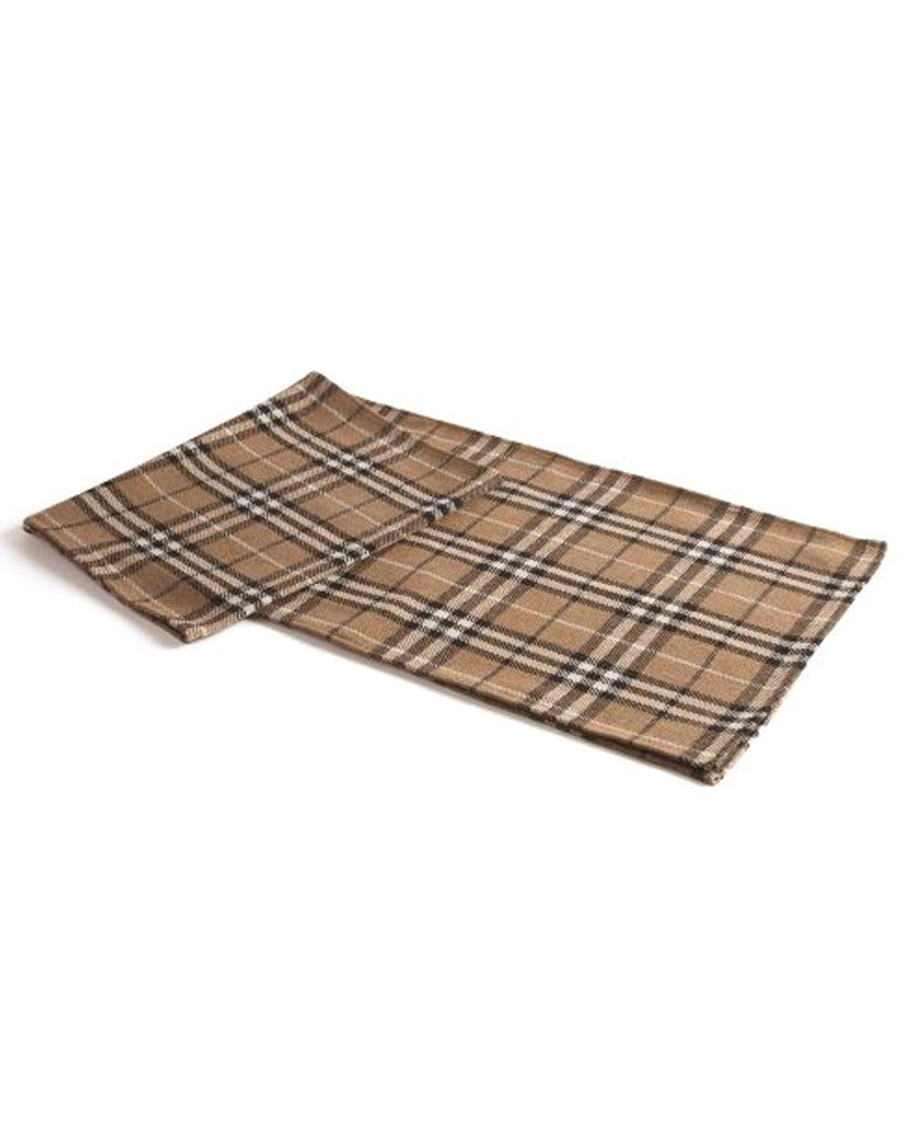 Lodge Brown Plaid Table Runner