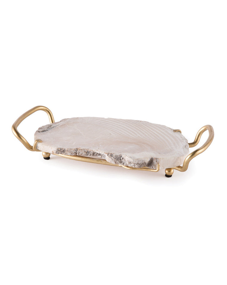 Fossilized Clam Decorative Tray