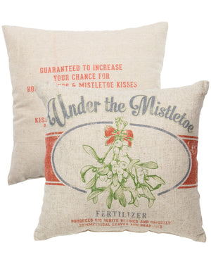Under The Mistletoe Throw Pillow