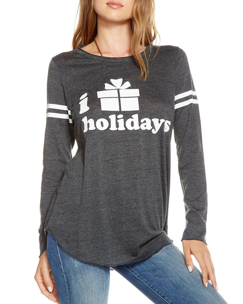 'I Love Holidays' Long Sleeve Tee