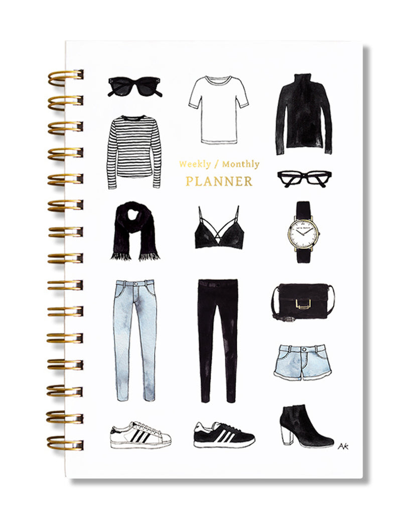 Minimalist Fashion Weekly/Monthly Planner