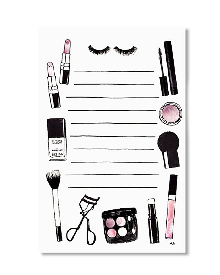 Cosmetics Beauty Notepad