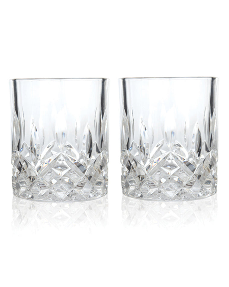 'Admiral' Crystal Double Old Fashioned Glasses (Set of 2)