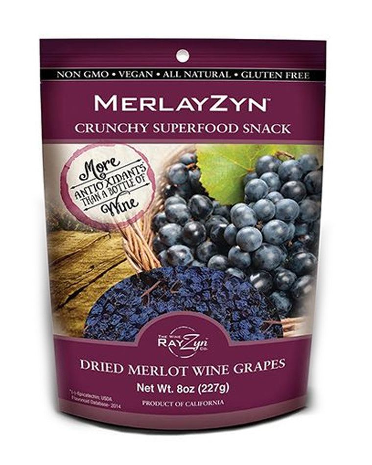 MerlayZyn Dried Merlot Wine Grapes