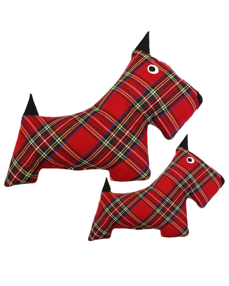 Plaid Scottie Plush Dog Toy