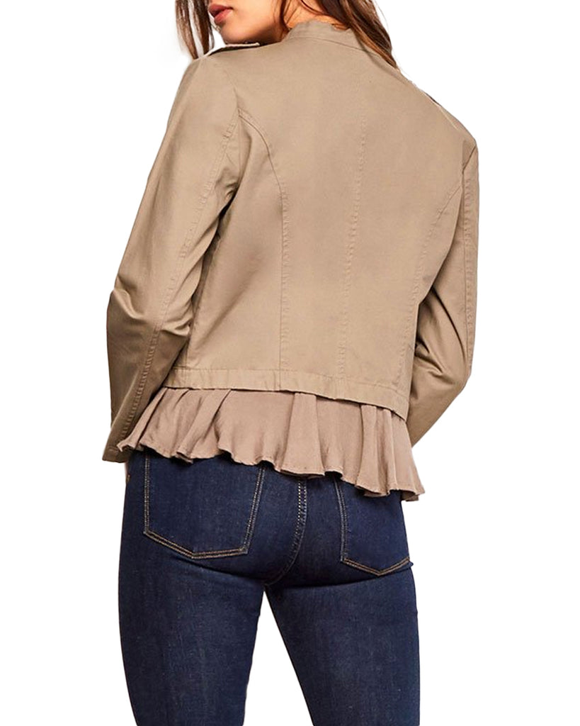 Hedy Canvas Ruffle Jacket