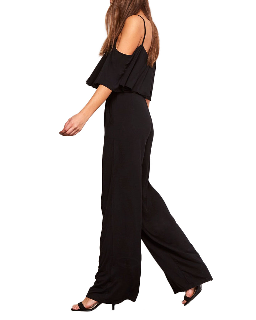 Claudette Cold Shoulder Ruffle Jumpsuit