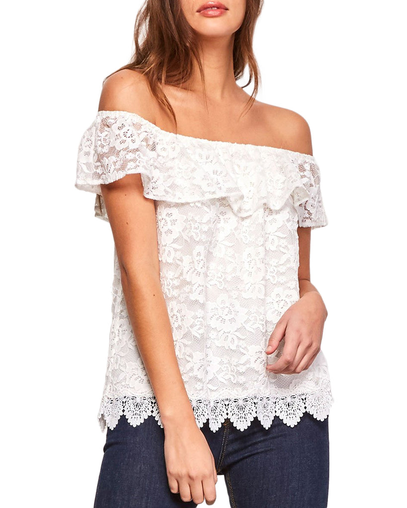 Zahara Off-the-Shoulder Lace Top