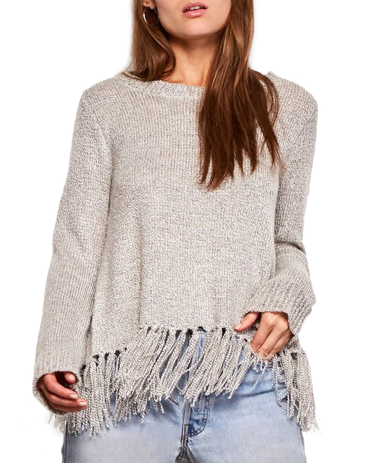 Jeraldine Knit Fringe Sweater