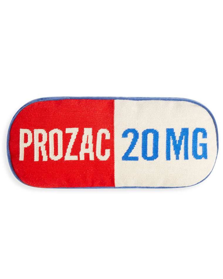 Prescription Prozac Needlepoint Pillow