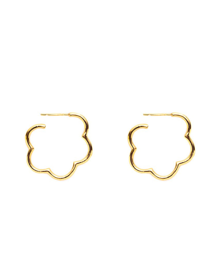 Gardenia Hoop Earrings