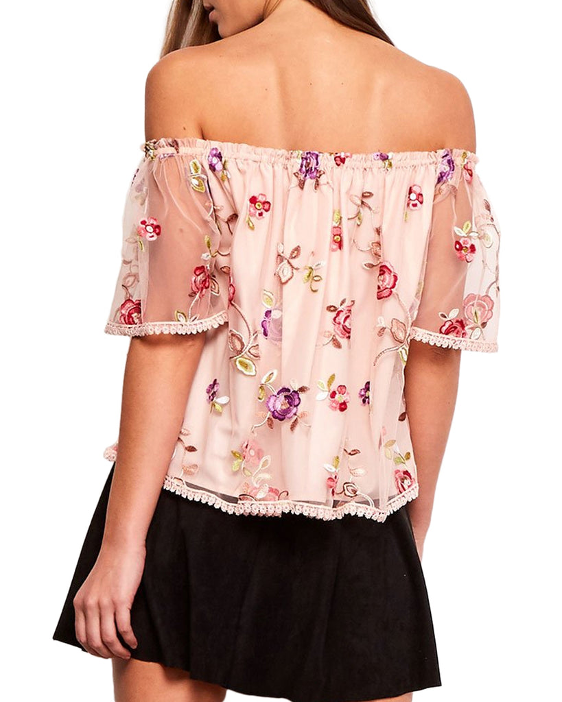 Stassi Floral Embroidered Top