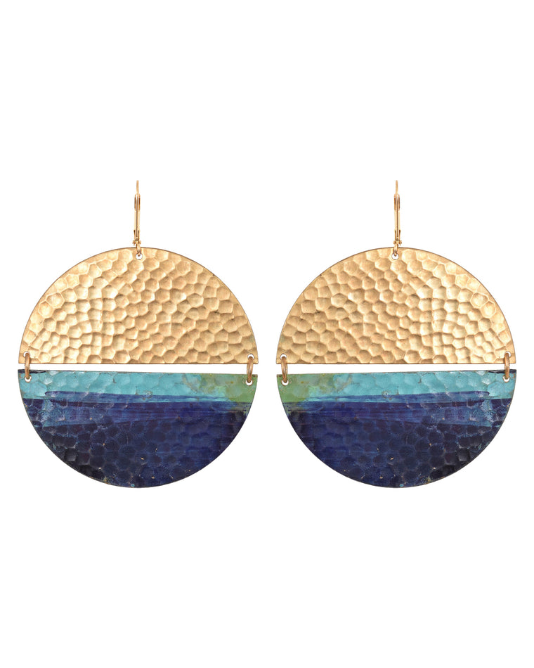Issoria Disc Drop Earrings