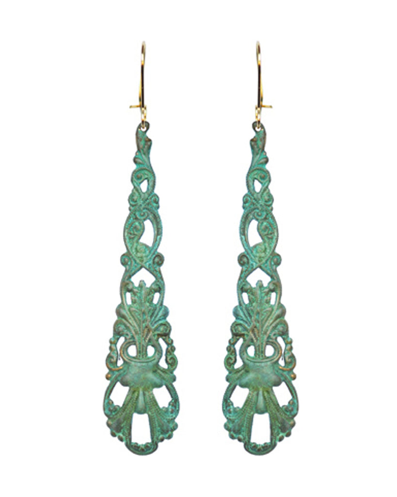 Anais Verdigris Drop Earrings