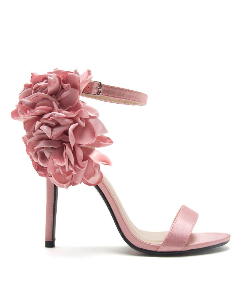 Air Of Romance Flower Ankle Strap Heels The Shopping Bag