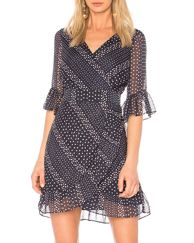 Clarissa Polka Dot Wrap Dress