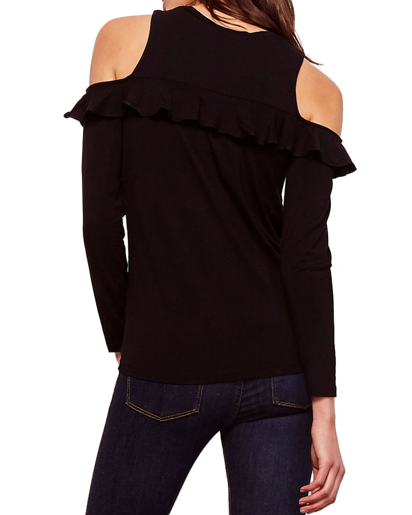 Kaitlin Ruffle Cold Shoulder Top