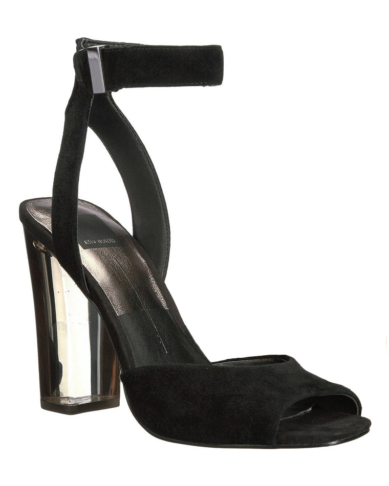 Hades Suede and Lucite High Heel Sandals