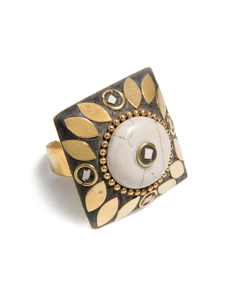 Jema Square Cocktail Ring