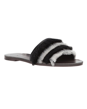 Celaya Fringe Slide Sandals