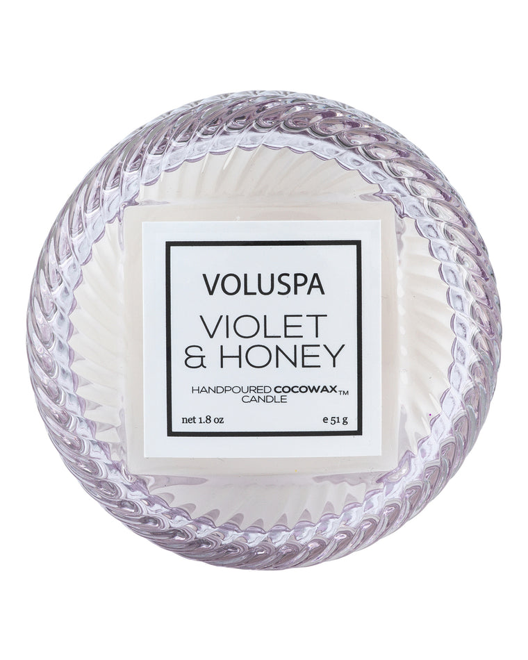 Violet & Honey Macaron Candle