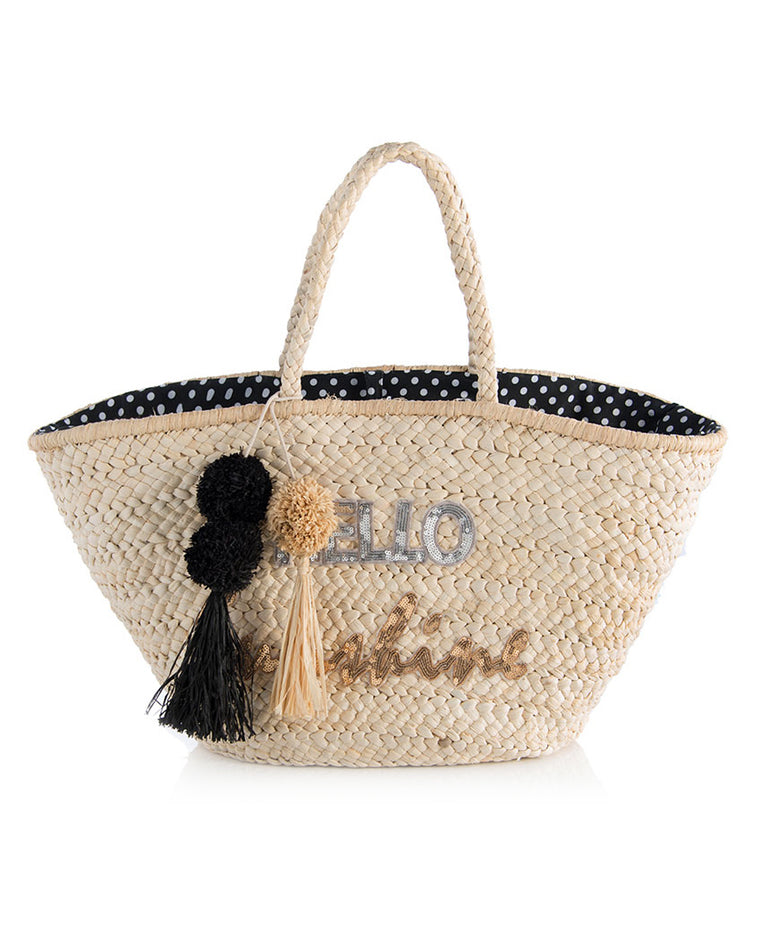 Hello Sunshine Straw Tote