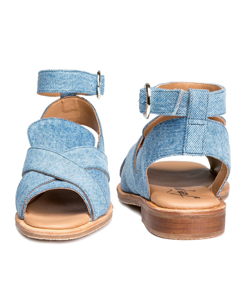 Catherine Denim Loafer Sandals