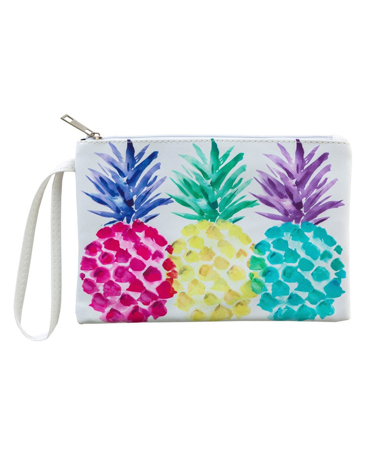 Colorful Pineapple Pouch Wristlet