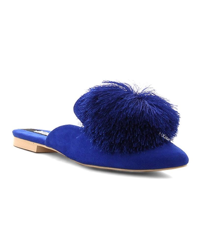 Standout Style Pom Slide Mules